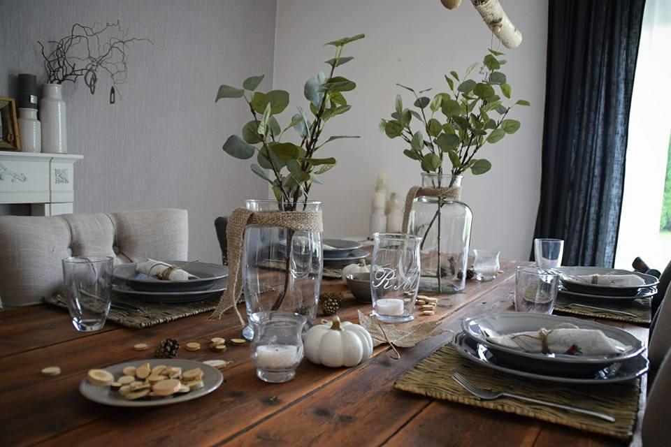 XL Herbstdeko zu Tisch…