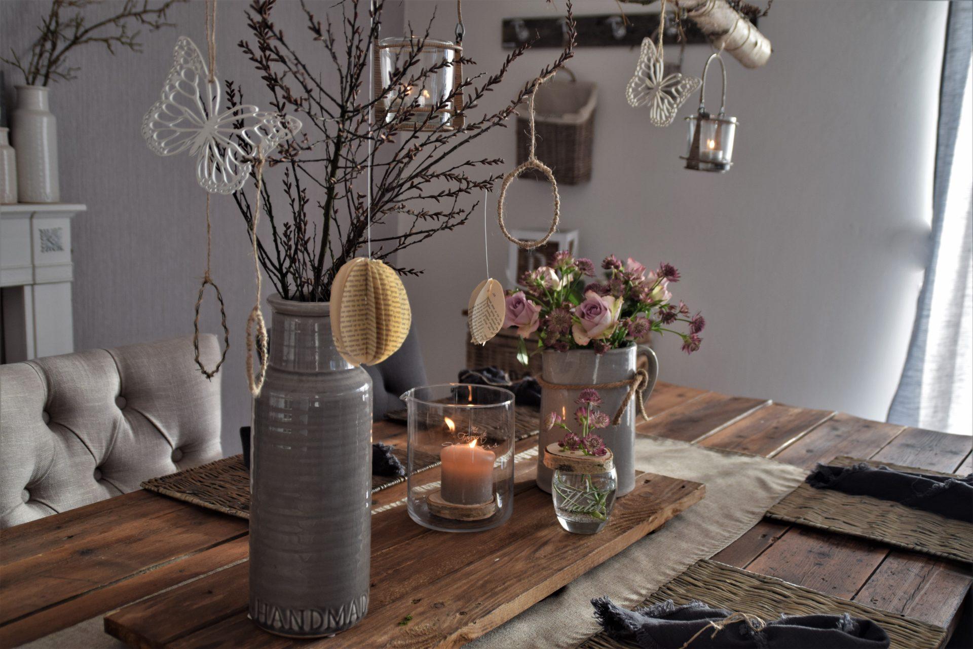 Simple Tischdeko mit großer Wirkung