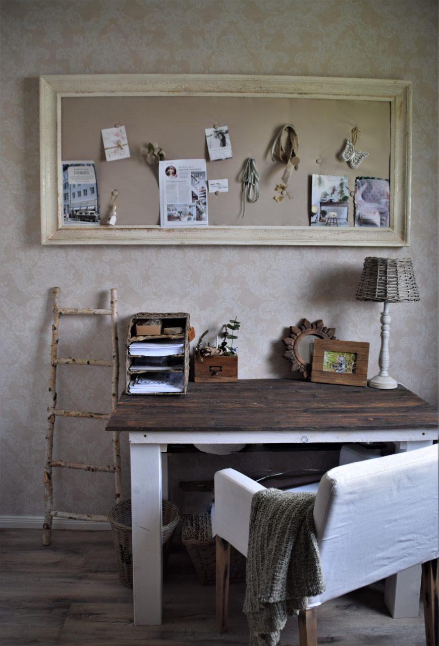 DIY Pinnwand aus einem alten Rahmen