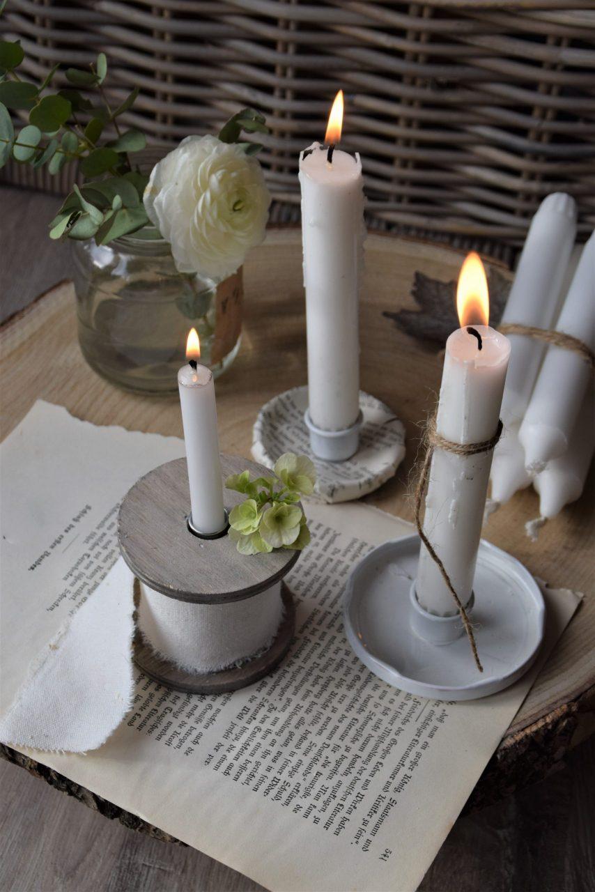DIY Kerzenhalter Konservendeckel