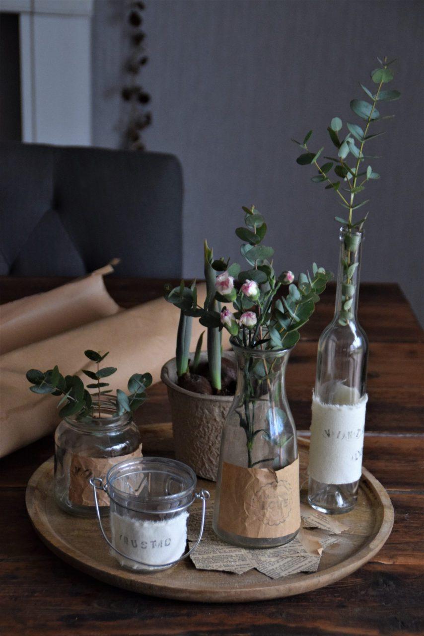 DIY Etiketten für Vase oder Windlicht